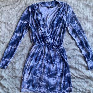 Hazel long sleeve tie-dye dress